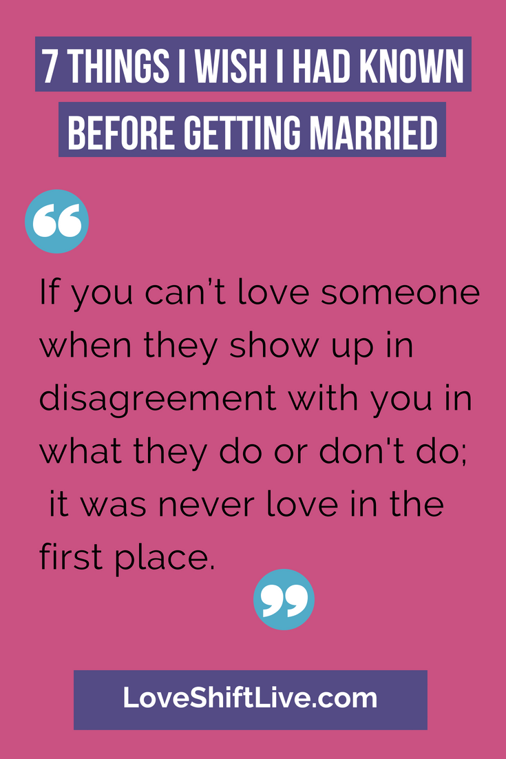 what i wish i knew before getting married